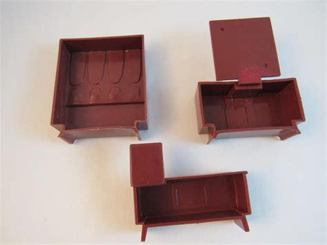 mid century modern dollhouse furniture 3 pieces from