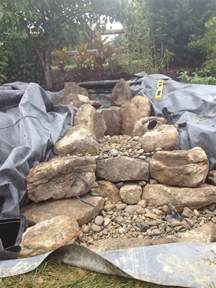 building a backyard water feature pondless waterfall build ephrata pa c e pontz sons