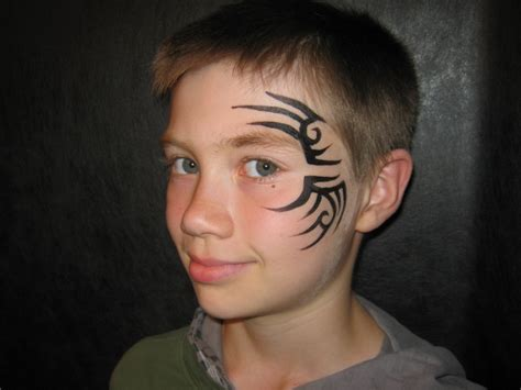 tribal pattern face paint tribal tyson style face painting by jenn