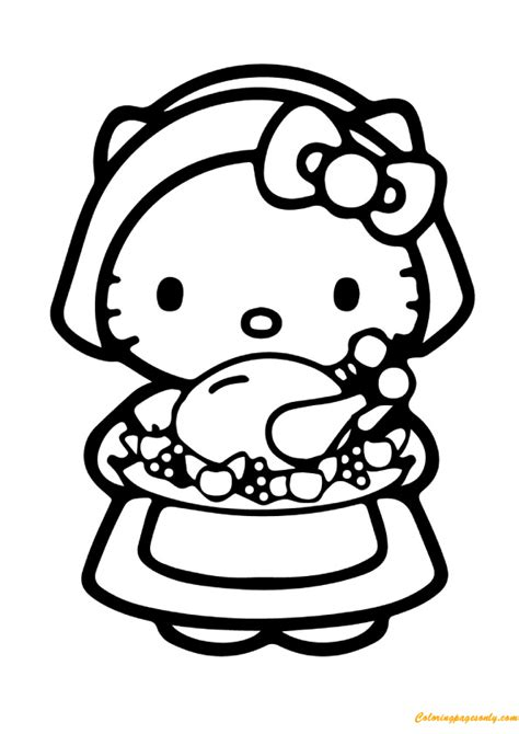 hello kitty cooking coloring pages hello kitty and food coloring page free coloring pages