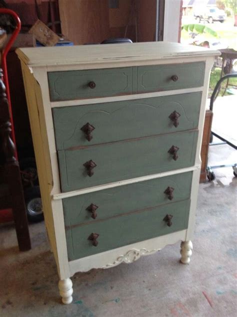 Two Tone Painted Dresser by Two Tone Painted Dresser Chest Furniture Refurbished