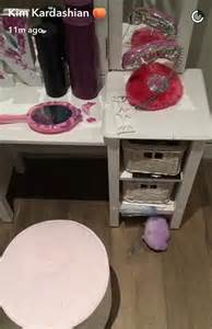 bedroom in north west north west redecorates her bedroom in nail polish daily
