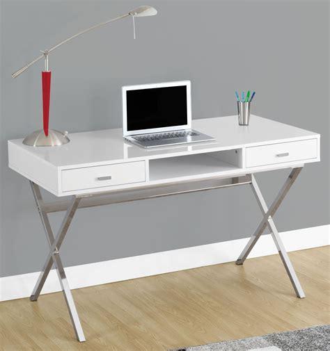 48 Computer Desk Glossy White 48 Quot Storage Computer Desk 7211 Monarch
