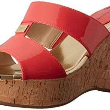 Sale Selop Wedges Ad Dv 29 shop coral wedge sandals on wanelo