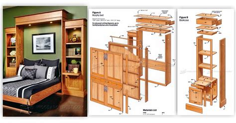 How To Build A Murphy Bed Frame Build Murphy Bed Woodarchivist