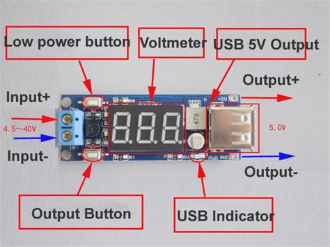 New Dc Step 5v 2a Voltmeter dc dc 4 5 40v to 5v 2a usb charger step converter