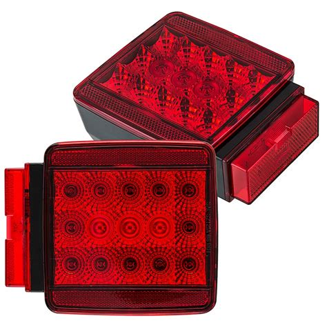 led trailer tail lights square led trailer light kit 4 1 2 led brake turn tail