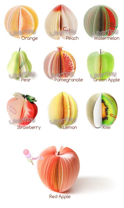 Squishy Licensed Ibloom Orange Fruit Pen Stand Original fruit note pad 183 uber tiny 183 store powered by storenvy