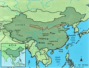 Great Wall Of China Map by Map Of The Great Wall Of China