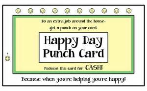 Punch Card Templates Best Photos Of Punch Card Templates Elementary Good