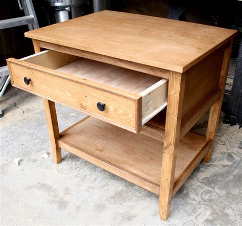 schubkasten bauen diy bedside table with drawer and shelf free plans