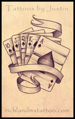 royal flush tattoo designs royal flush design richland ms tattoos