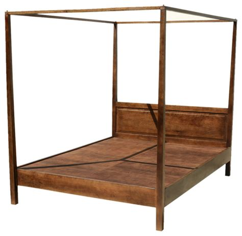 Wooden Canopy Bed Frame Mission Solid Mango Wood 4 Post Bed With Canopy Frame Rustic Platform Beds San Francisco