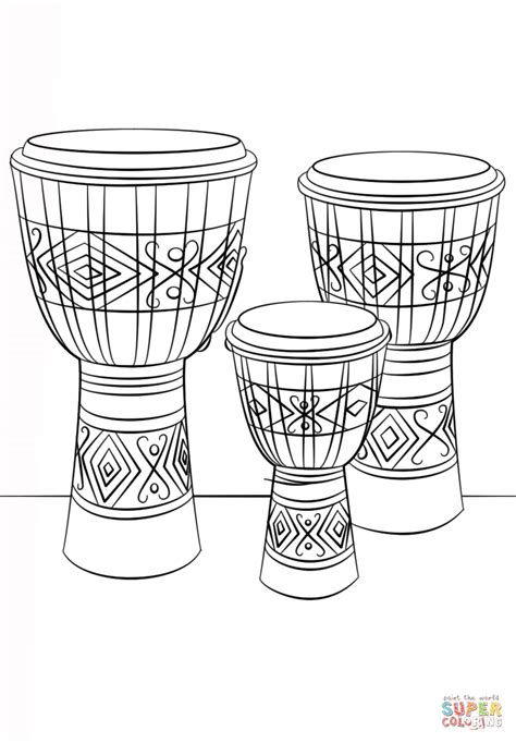 african instruments coloring page african drums coloring pages printable african best free