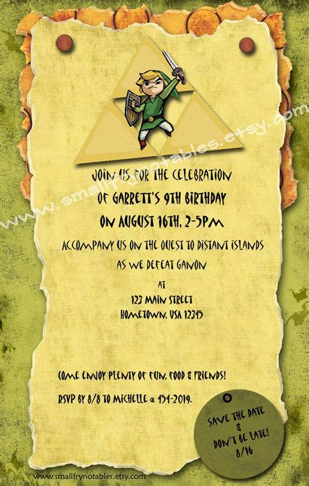 zelda themed birthday party 17 best images about the legend of zelda birthday party on