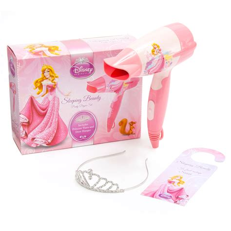 Hair Dryer On Crown Princess disney princess sleeping hair dryer