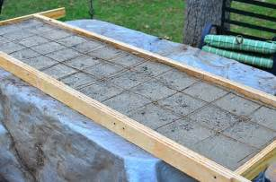 the concrete countertop for the outdoor wood fired