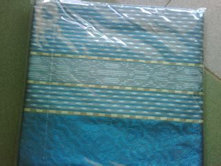 Tenun Baron Silver Mix Biru kain tenun ikat model songket baron cv tenun indonesia