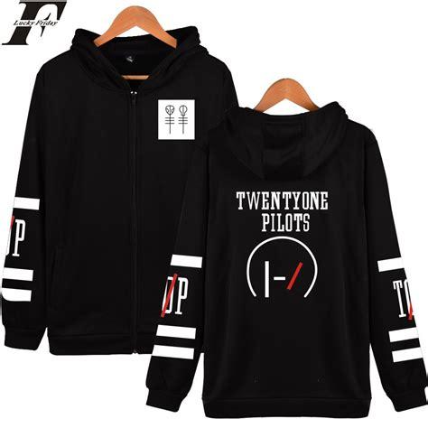 Zipper Twenty One Pillot luckyfridayf twenty one pilots hooded hoodies zipper rock band hip hop mens hoodies and