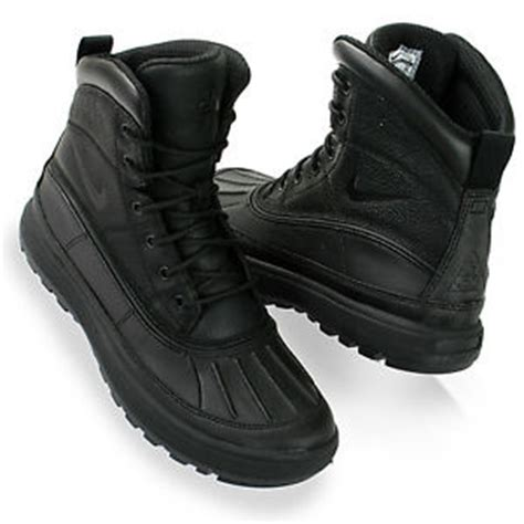 nike woodside 11 525393 090 black black duck boot mens