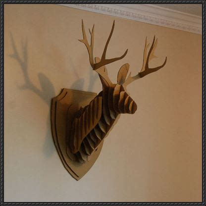 cardboard deer template another cardboard deer wall hanging template and tutorial