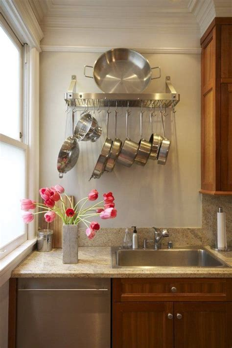 Hanging Pans In Kitchen S Colorful Filled Home House Tours Pot Racks