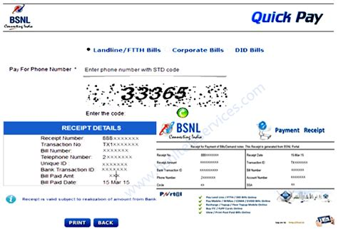 bsnl bill payment at pay bsnl bill portal