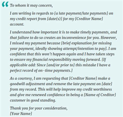 Sle Credit Dispute Letter Late Payments letter to bank remove late payment from credit report