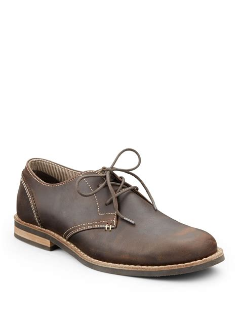 original penguin waylon leather lace up shoes in brown for
