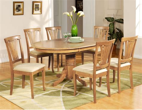 7 Pc Avon Oval Dining Table 6 Microfiber Upholstered Oval Dining Table Set For 6