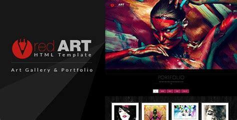 themeforest red art v1 0 html portfolio art gallery