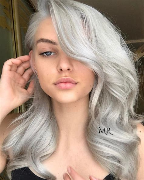 platinum blonde transformation icy silver hair transformation is the 2018 s coolest trend