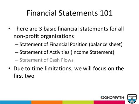 Finance Basics For Mba by Nonprofit Finance Basics For The Non Mba Non Cpa