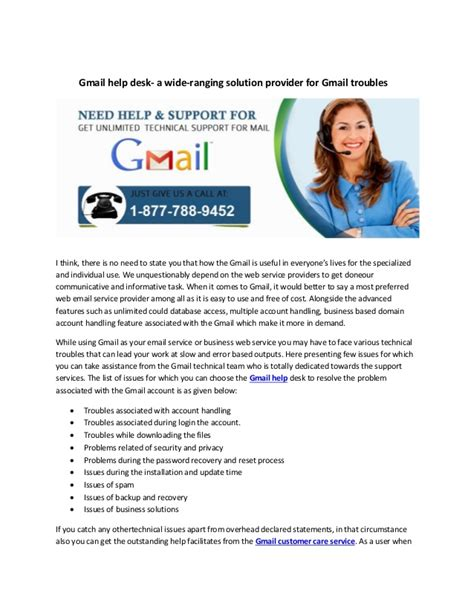 Help Desk Gmail by Gmail Help Desk A Wide Ranging Solution Provider For Gmail Troubles