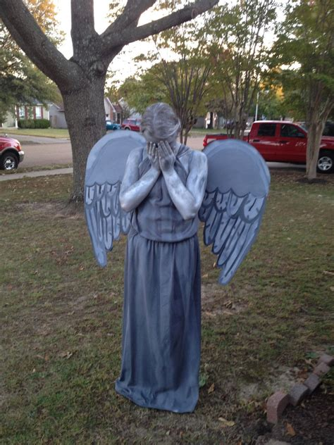 doctor  weeping angel statue costume handmade inspired