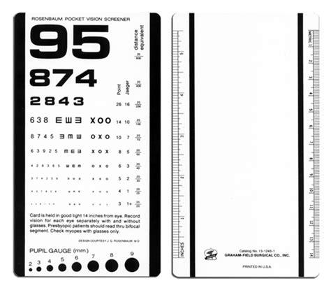 printable near point eye chart rosenbaum pocket vision screener