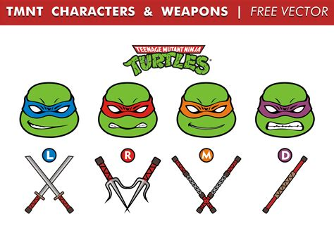 tmnt names and colors mutant turtles names and colors and weapons