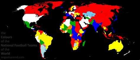 colors of the world the colours of the national football teams of the world