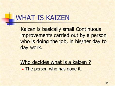 kaizen what is it definition exles and more kaizen updated 030507