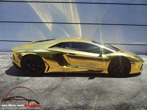 Lamborghini Gold Car Price Automotive News Lamborghini Aventador Wrapped In Gold Chrome
