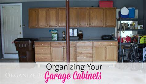 organizing garage cabinets organize 365