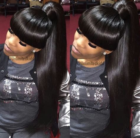 urban long weave hair styles ponytail with bangs hairstyle urban hairstyles natural