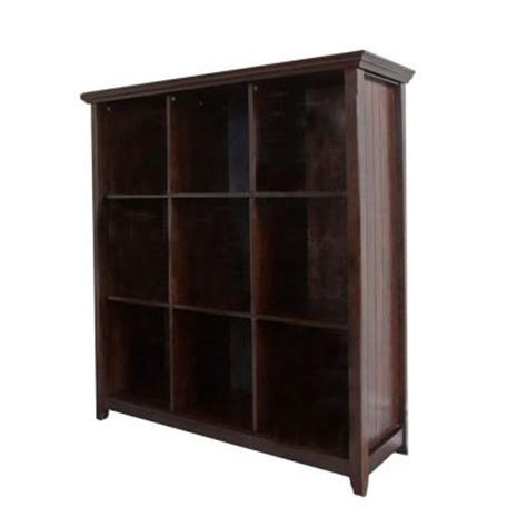 simpli home acadian 9 cube storage bookcase in