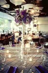 Purple Wedding Centerpiece Ideas by Fall Wedding Posh Floral Designs