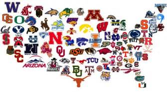 us map by college football 2014 the beginning of a new era in college football