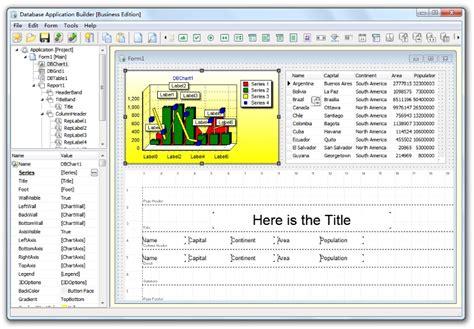 design excel application database application builder