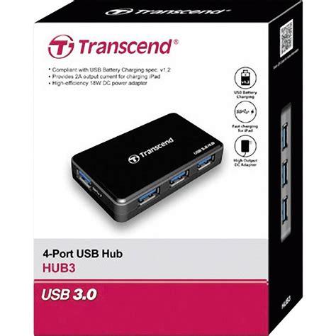 4 Ports Usb 3 0 Hub Black 4 ports usb 3 0 hub transcend ts hub3k black from conrad