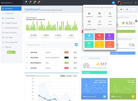 dashboard design html css 25 modern flat admin dashboard templates web graphic