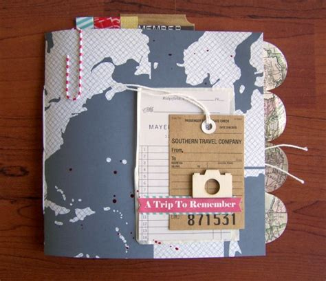traveling high and tripping books challenge 33 travel mini album scrapbook circle
