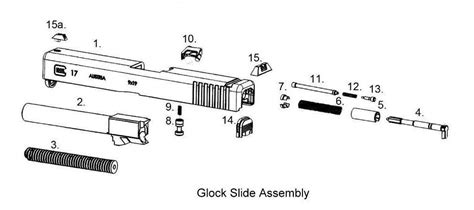 glock exploded diagram glock slide assembly exploded view parts s gun